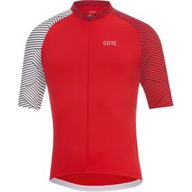 GORE WEAR C5 Optiline Koszulka rowerowa z zamkiem błyskawicznym Mężczyźni, czerwony